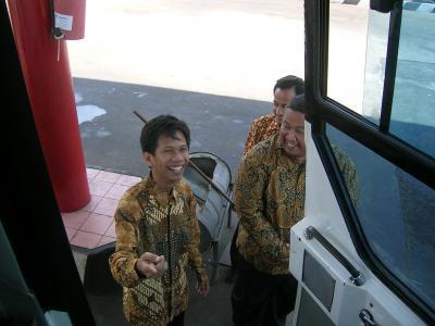 Mas Agung at Gas Station
