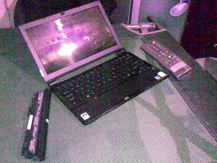 Battery, Sony Vaio, Indovision Remote Control on Military Bed