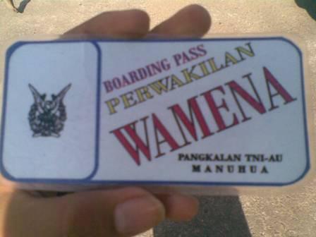 """""""Tiket"""" Hercules Wamena-Jayapura"""