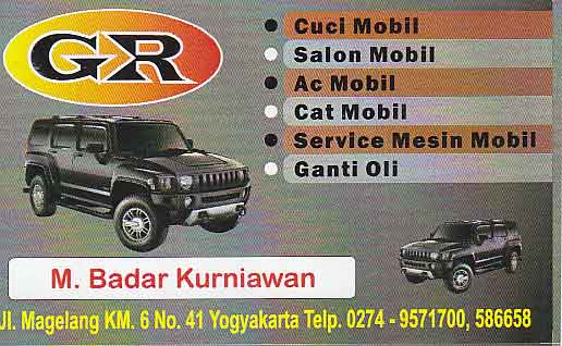 Cuci Mobil GR Yogyakarta